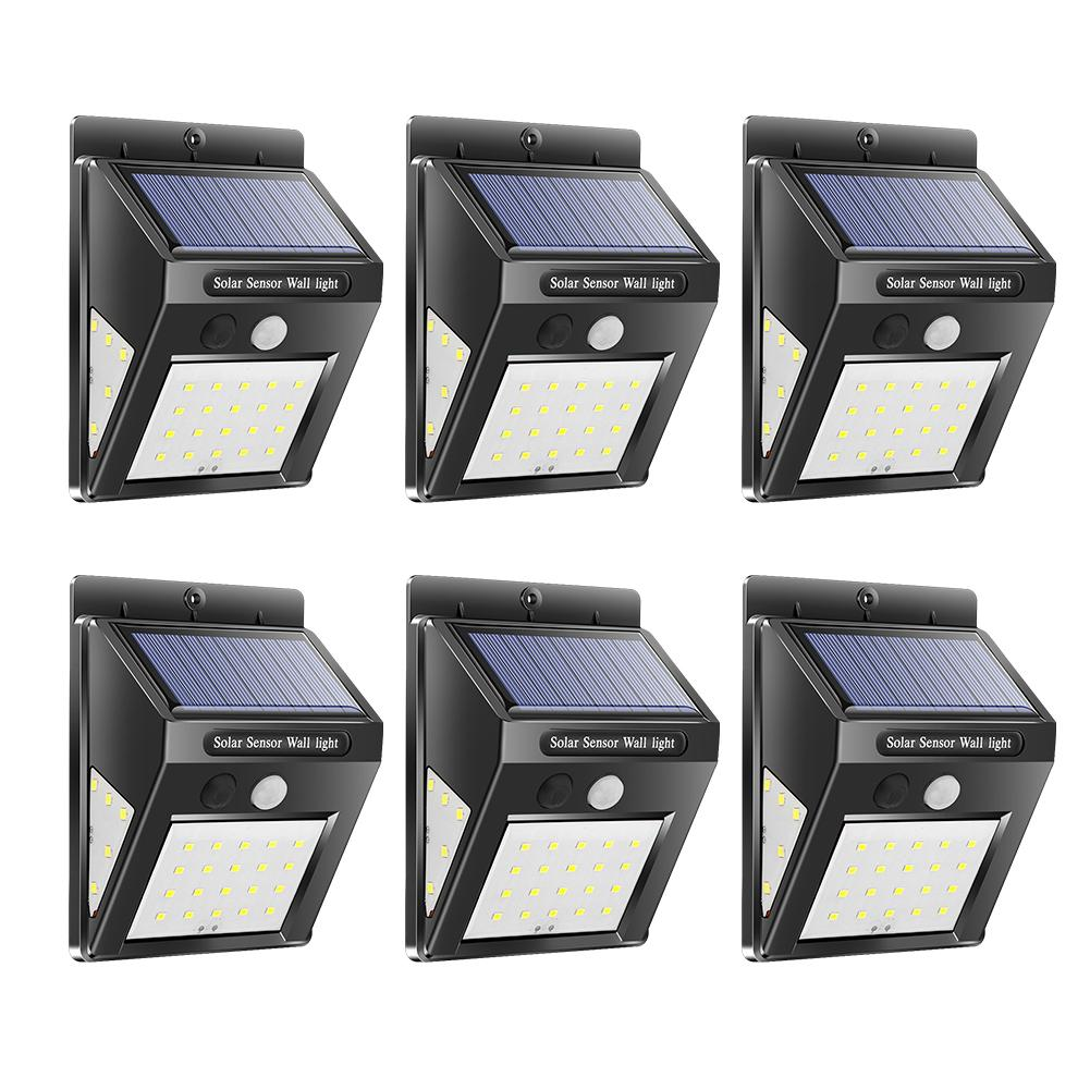 6pcs Outdoor 40LED Solar Garden Wall Light Waterproof Motion Sensor Street Lamp Energy Saving And Environmental Protection