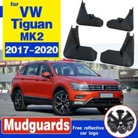مجموعة واقيات الطين المصبوبة لـ VW Tiguan 2 Mk2 2016 2017 2018 واقيات الطين والرذاذ للأمام والخلف مجموعة واقيات الطين واقيات الطين
