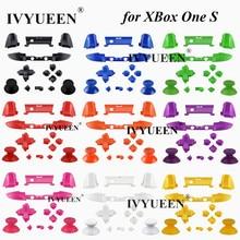 IVYUEEN 10 צבעים מוצק RB LB פגוש RT LT טריגר כפתורים Mod ערכת עבור Microsoft Xbox אחד S Slim בקר אנלוגי מקל Dpad
