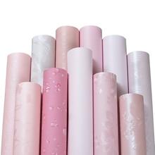 Wall roll self-adhesive bedroom girl waterproof warm pink wallpaper dormitory wall stickers decorative desktop cabinet furniture