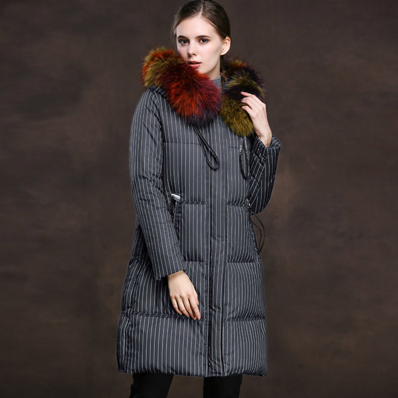 Women's Down Jacket Autumn Winter Coat Women Clothes 2020 Fox Fur Collar Female Jacket Korean Vintage Tops Chaqueta Mujer ZT3569