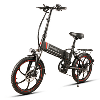 Folding Electric Bike 20 Inch Power Assist Electric Bicycle E Bike Scooter 350W Motor Conjoined Rim