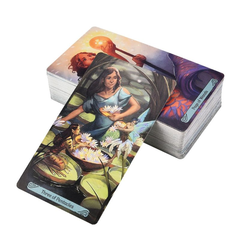 78pcs Tarot Cards Full English Oracle Deck Tarot Divination Fate Family Party Board Game Toy