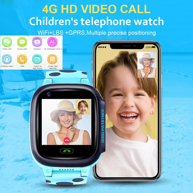 Y95 GPS Children Smart Watch HD Video Call 4G Full Netcom With AI Payment WiFi Chat GPS Positioning Watch For Kids Students Gift