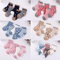 5 Paare/los 0 zu 6 Jahre Kinder Weiche Baumwolle Socken Junge Mädchen Baby Niedlich Cartoon Warme Streifen Dots Fashion Schule socken Herbst Winter