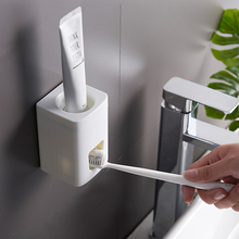 Automatic Toothpaste Dispenser Bathroom Accessories Set Toothpaste Squeezer Toothbrush Holder Wall Mount Rack Tooth Brush Holder wall mount dust proof toothbrush holder dispenser hair drier rack automatic toothpaste squeezer dispenser bathroom accessories