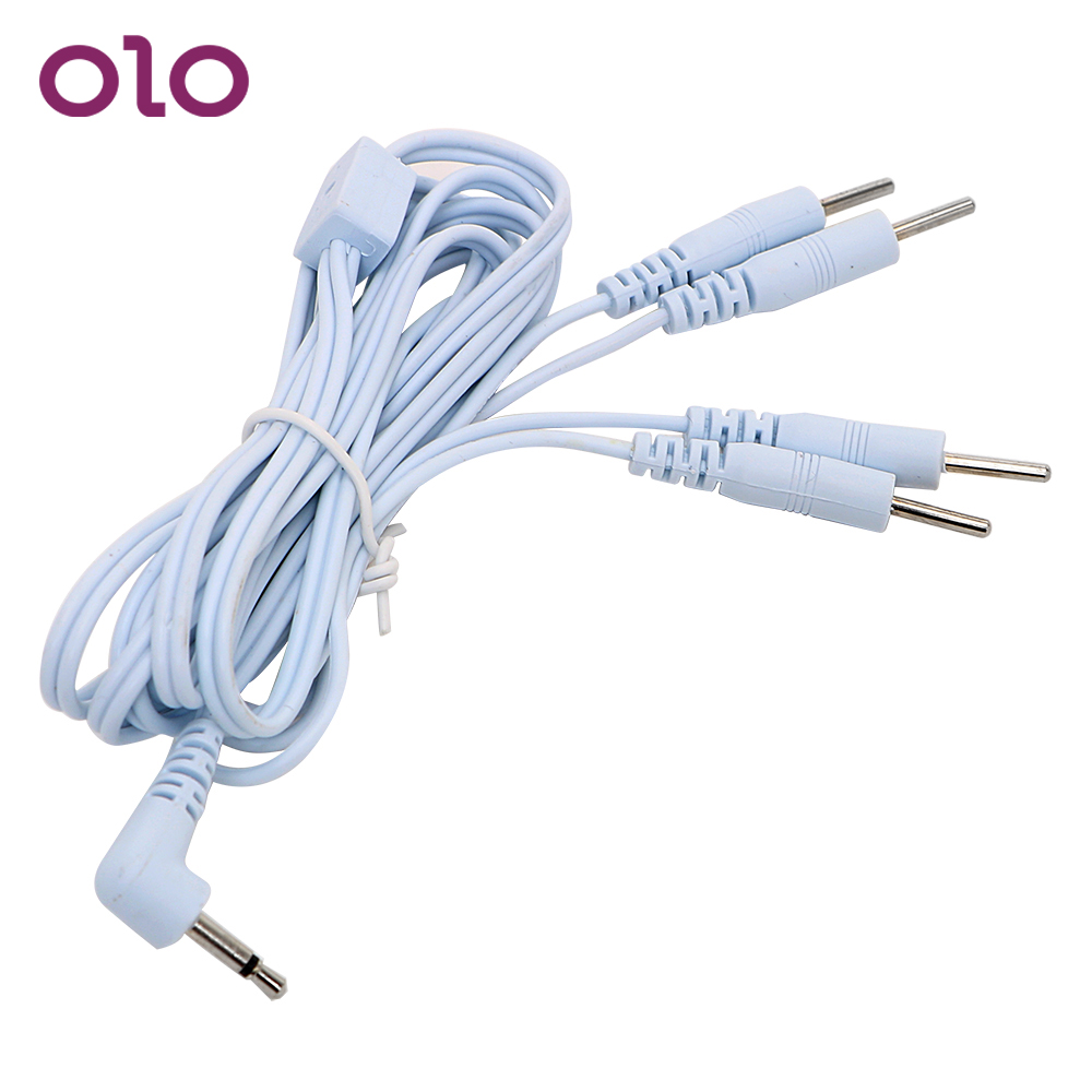 OLO Electric Shock Wire Electro Stimulation 2/4 Pin For Penis Ring Anal Plug Therapy Massager Accessories Sex Toys
