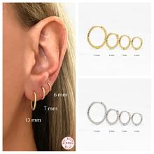 CANNER-pendientes circulares de hueso del oído para mujer y niña, de Plata de Ley 925, joyería fina para fiesta y boda
