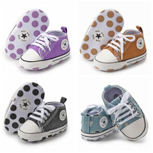 Baby Shoes Sneaker First-Walkers Canvas Anti-Slip Toddler Newborn Girl Infant Boy Casual
