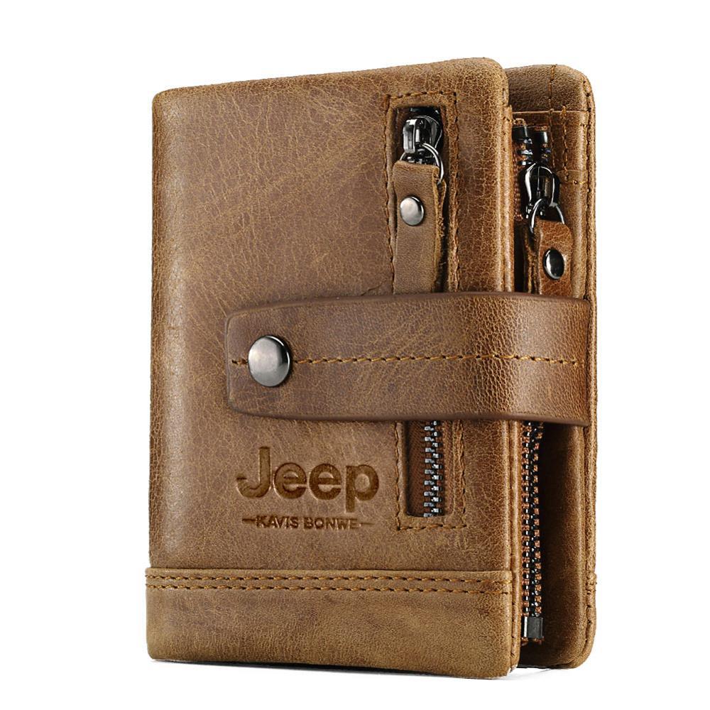 Роскошный дизайнерский мужской кошелек, кожаный двойной Короткий Мужской кошелек на застежке, кошелек для монет, Винтажный Мужской многофункциональный кошелек для карт Кошельки      АлиЭкспресс