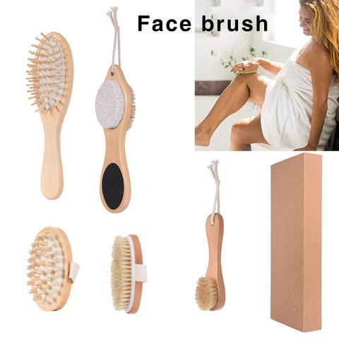 4 5pcs kit escova esfoliacao do corpo massagem corporal escova facial para remover a pele