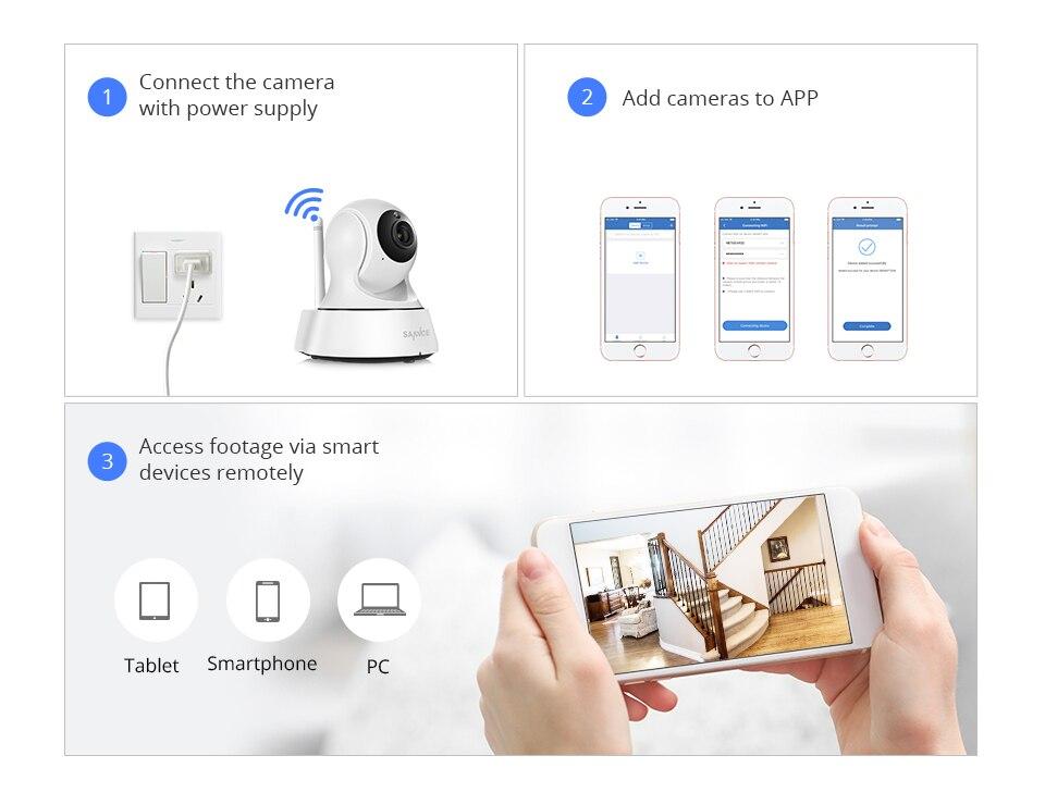 SANNCE 2K Home Security IP Camera Wi-Fi Wireless Mini Network Camera Surveillance Wifi 3MP Night Vision CCTV Camera Baby Monitor