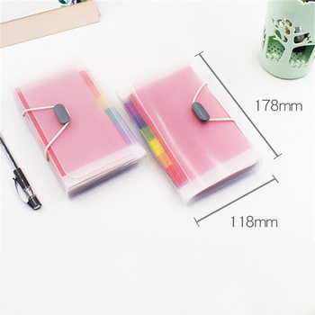 A6 Plastic Portable File Folder Extension Wallet Bill Receipt File Sorting Organizer Office Storage Bag Folders Filing Products 6