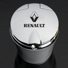 Car Ashtray With Led Lights With Logo Creative Personality Car Supplies for Renault TALISMAN CAPTUR Espace Clio Megane Koleos