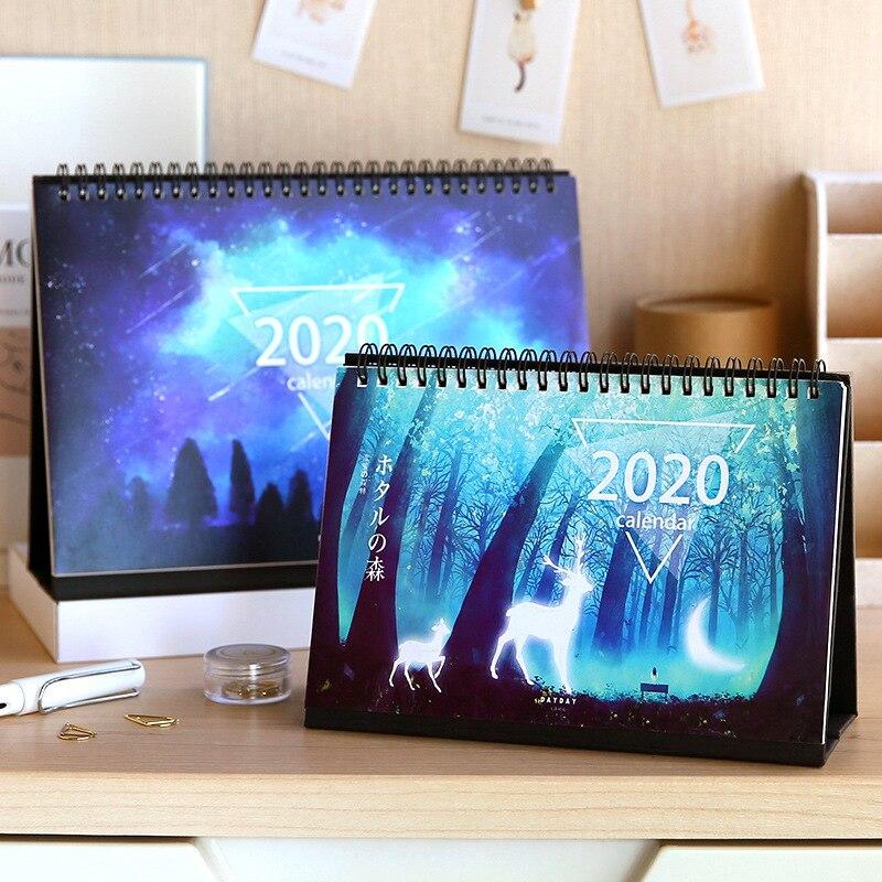 50pieces 2020 Starry Universe Series Creative Desktop Calendar Custom Cute Stationery New Year Gift