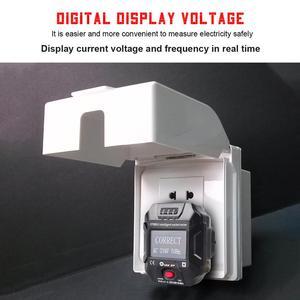 Image 3 - TOOLTOP ET89 détecteur de prise Portable affichage numérique testeur de prise électrique testeur de câblage de fréquence de tension Test RCD ue/US