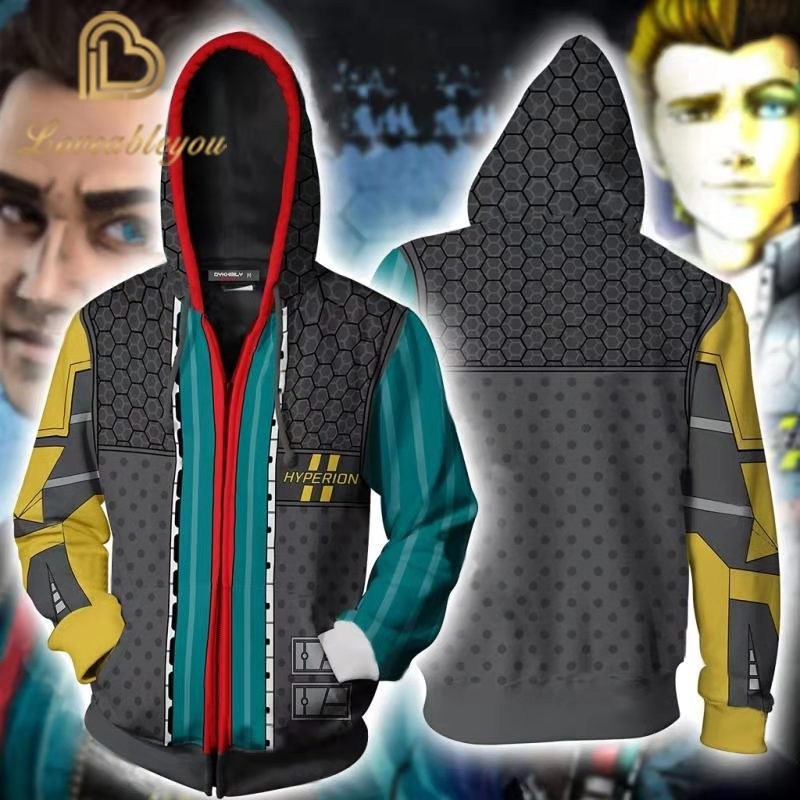 Game <font><b>Borderlands</b></font> Cosplay Main Characters Zipper Hoodies Men and Women Casual Sports Sweaters 3D Printing Autumn Tops image