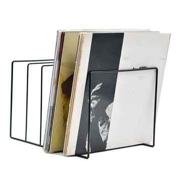 Metal LP Vinyl Record Display Shelf Turntable Storage Shelf Exhibit Stand Holder