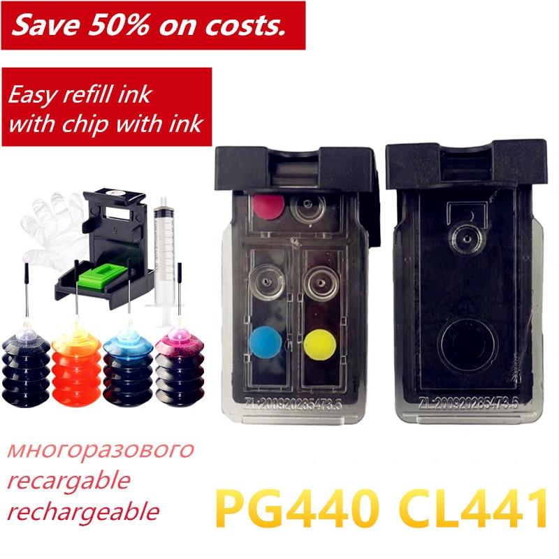 5AA RU UA Salable PG 440 CL 441 Refill For Canon MG214 MG2240 MG3120 MG3240 MG3540 MG4240 MG4240 MG3640
