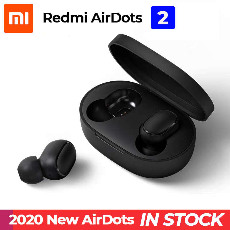 Xiaomi Redmi Airdots 2 Black Wireless Earphones Youth Mi True Wireless Headphones Bluetooth 5 0 TWS Air Dots Headset