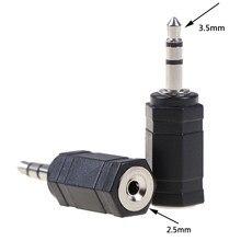 2 pièces 2.5 Mm mâle To3.5MM femelle 3.5 à 2.5 stéréo Jack Audio Pc téléphone casque écouteur convertisseur adaptateur câble prise