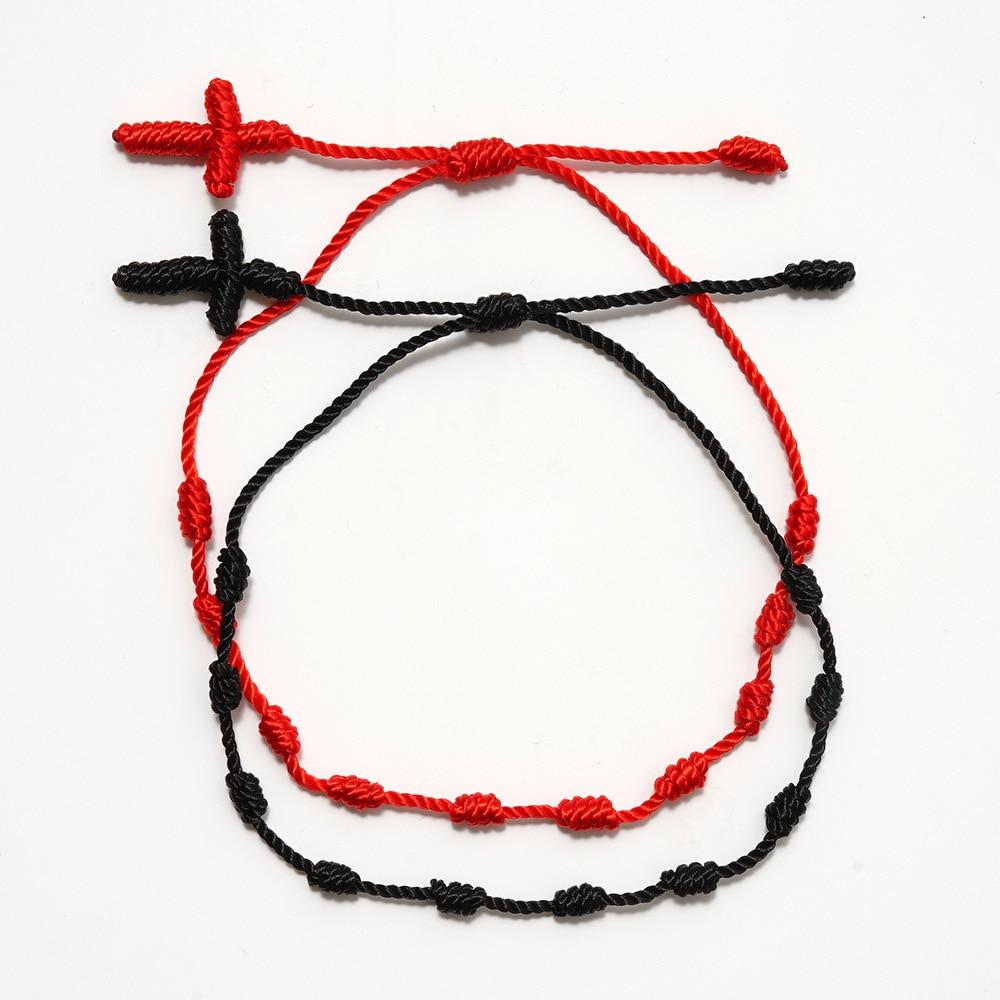 7 узлов красный браслет для защиты, сглаза и удачи, амулет для успеха и процветания, браслеты дружбы|Цепочки и браслеты|   | АлиЭкспресс