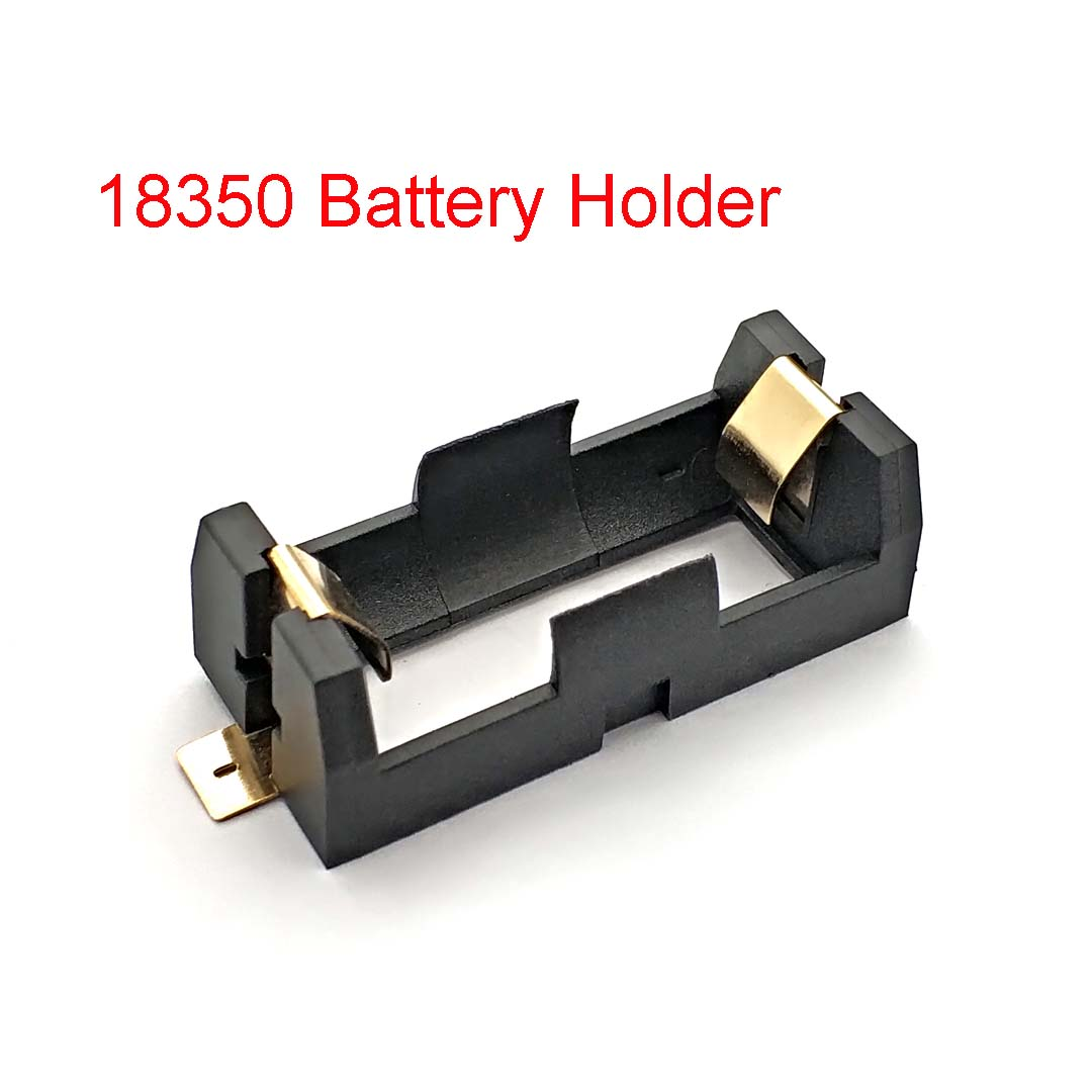 1*18350 Battery Holder Smd Smt Batteries Case Storage Box With Bronze Pins 1 Slot 1*18350 Rechargeable Battery Shell