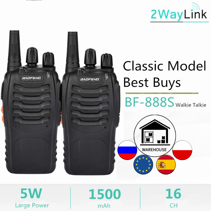 Baofeng Walkie-Talkie Radio UHF H-777 Bf 888s 400-470mhz 2PCS Or 16channels 1PC C2