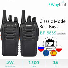 1PC oder 2PCS Baofeng BF-888S Two Way Radio Baofeng 888 Walkie Talkie 888S UHF 400-470mhz 16 Kanäle H777 Radio BF 888S H-777 C2(China)