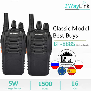 1PC or 2PCS Baofeng BF-888S Two Way Radio Baofeng 888 Walkie Talkie 888S UHF 400-470Mhz 16Channels H777 Radio BF 888S H-777 C2