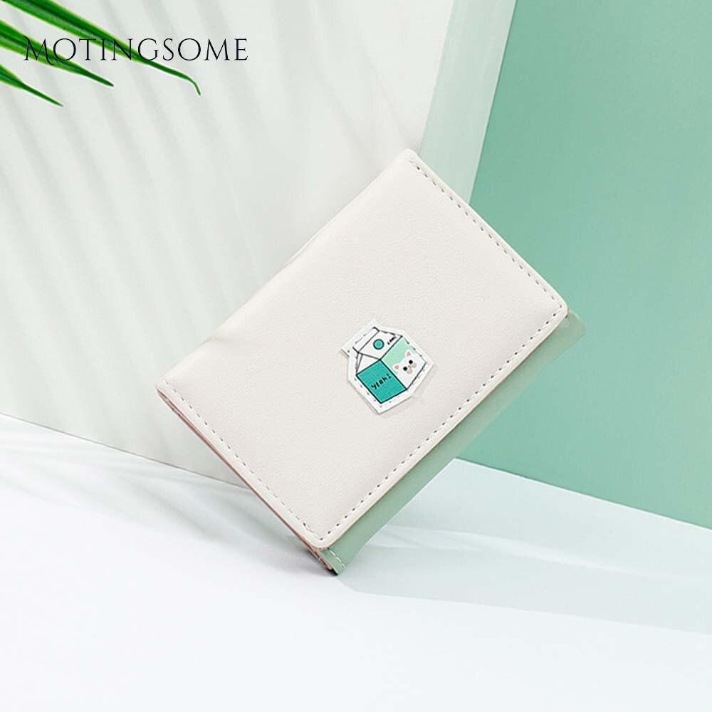 Lovely Style Womens Wallets And Purses Minimalist Wallets Slim Short Wallet Cartoon Pattern Card Holder Cute Teenager 2020 New