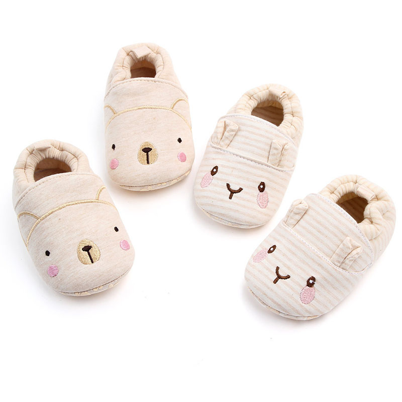 Spring Autumn Baby Girl Prewalker Shoes Breathable Cute First Walker Shoe Baby Girl Cartoon Cotton  Baby  Newborn Toddler Shoe