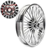 BIKINGOY 21 x 3.5 Single Disc Front Wheel Rim Hub 36 Fat King Spokes For Harley Dyna / Softail / Touring / Sportster