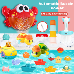 New 5 Bubble Machine Bath Toy Bubble Gun Baby Gift Water Games Kids Baby Bubble Maker Pool Swimming Machine Toys for Children(China)