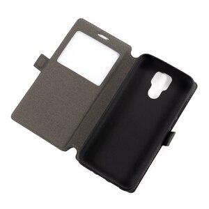 Image 4 - Caso do telefone de couro do plutônio para ulefone power 6 caso da aleta para ulefone power 6 ver janela livro caso macio tpu silicone volta capa
