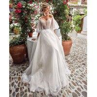 Verngo, ТРАПЕЦИЕВИДНОЕ пляжное свадебное платье 2020, элегантные богемные Свадебные платья с длинным рукавом, свадебное платье, Vestido De Noiva Sereia