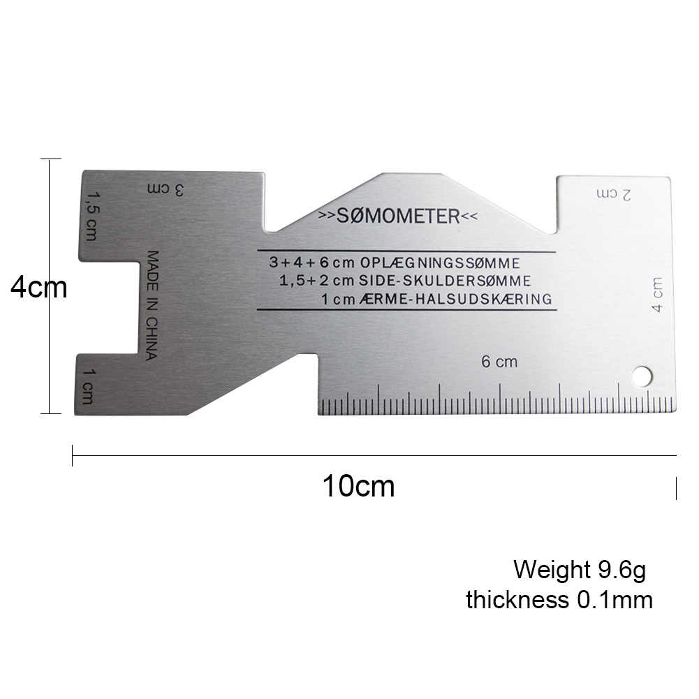 Sewing Ruler Metal Measuring Gauge Quilting Ruler Template Hand Quilting Sewing Seam Measuring Gauge Professional Sewing Tool Accessory