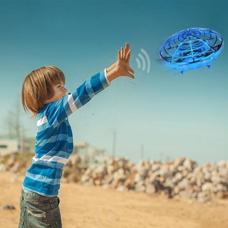 Anti-collision Hand UFO Ball Flying Aircraft RC Toys Led Suspension Mini Induction Drone Gift For Children Boys Drop Shipping