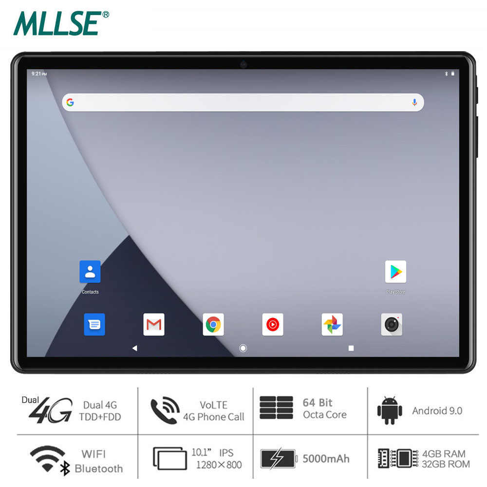 2020 Nieuwe Tabletten 10 Inch Octa Core Android 9.0 Tablet Pc 1280X800 Ips 4Gb Ram 32Gb rom 4G Fdd Lte Netwerk Wifi Bluetooth Gps