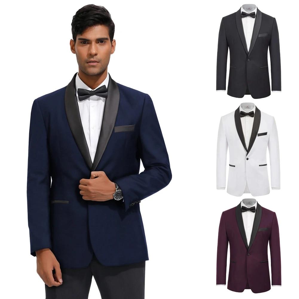Paul Jones Men's Coats Elite Male Office Fashion Slim Fit Long Sleeve Shawl  Lapel One Button Blazer Coat Work Wear Business New|Suit Jackets| -  AliExpress