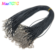 10Pcs/lot 1.5mm/2.0mm Handmade Leather Cord Adjustable Braided Rope Pendant Necklaces Fashion Jewelry Finding Accessories