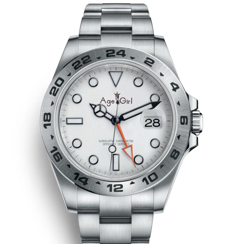 GMT Watches Mechanical-Watch EXP Sapphire Diver 40mm White Sport 44mm Automatic Black title=