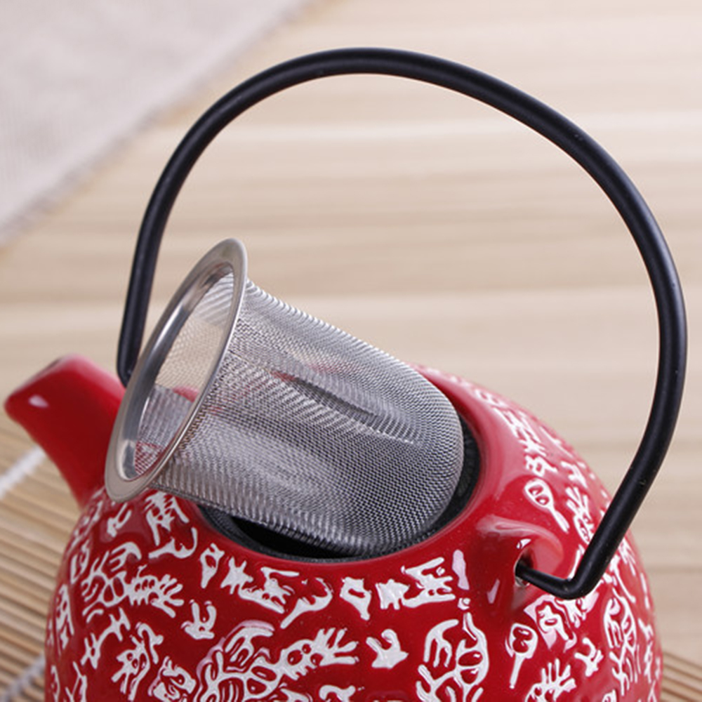 New Reusable Stainless Steel Mesh Tea Infuser Tea Strainer Teapot Drinkware Tea Leaf Spice Filter Kitchen Accessories