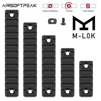M-lok Picatinny Rail Tactical 21mm Rifle Scope Mount Aluminum Rails Section Adapter 5 7 9 11 13 Slots Mlok Side Rail System