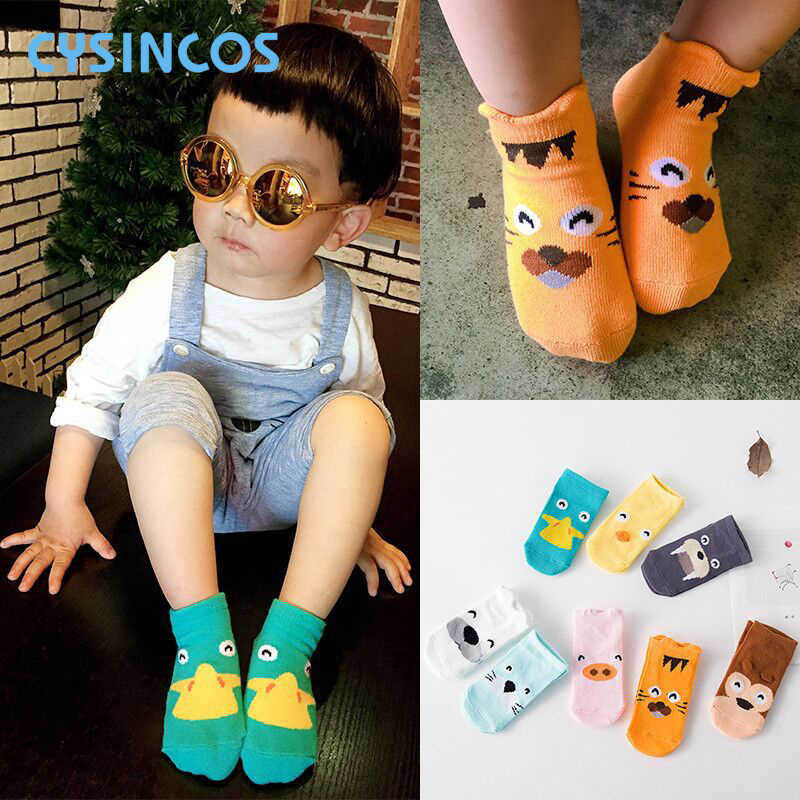 Infant Baby Socks Toddler  Anti-slip Cartoon Animal Socks Asymmetry Short Socks Newborn Boys Girls Ankle Floor Calcetines