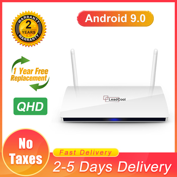 QHD Leadcool Android 9.0 TV Box 4K Full HD 1 Year warranty 2.4G wifi HDMI 2.0 Android 9.0 New Leadcool Smart TV  No App Included new for 5207 32p0765 32p0766 146g 10k fc ds4300 1 year warranty