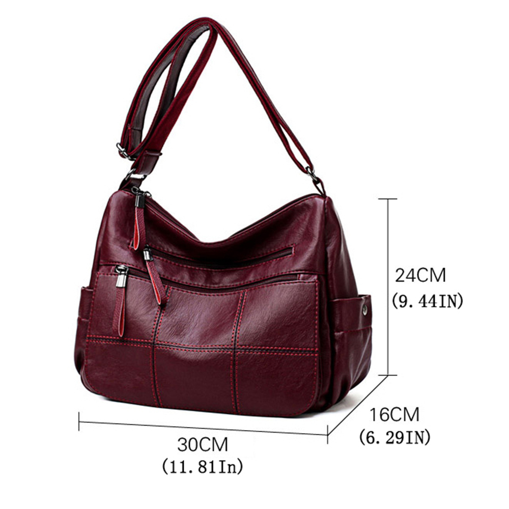 Hot Soft Leather Bolsa Luxury Ladies Hand Bags Female Crossbody Bags for Women Shoulder Messenger Bags Thread Sac A Main Femme 3