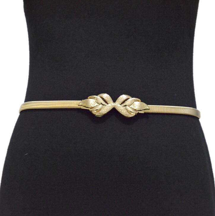 Women's Runway Fashion Elastic Metal Cummerbunds Female Dress Corsets Waistband Belts Decoration Belt R2010