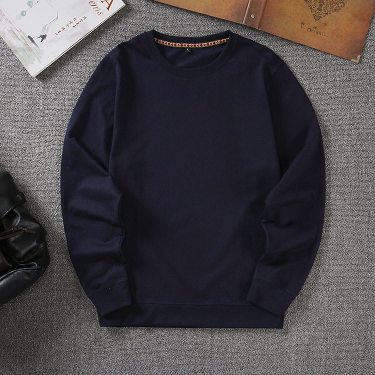 Autumn Pullover Solid Men's Hoodies O-neck Long Sleeve Size M-3XL Blue White Casual Sweat Homme Men Hoodie Sweatshirt 668