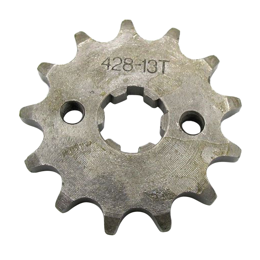 Chain 428 13 Tooth Front Engine Sprocket Dirt Pit Bike ATV Moped 17mm Shaft